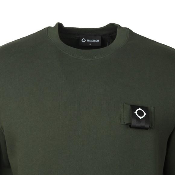 Ma.Strum Mens Green Training Crew Sweatshirt