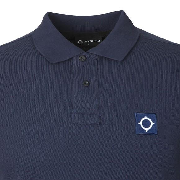 Ma.Strum Mens Blue Pique Polo Shirt