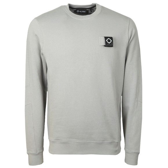 Ma.Strum Mens Grey Training Crew Sweatshirt