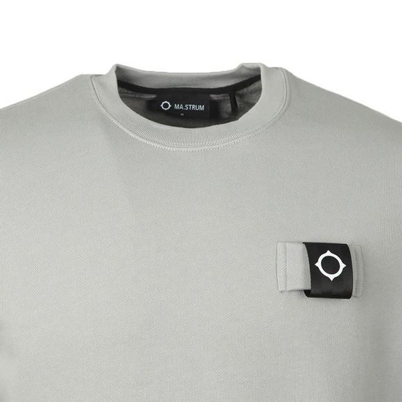 Ma.Strum Mens Grey Training Crew Sweatshirt