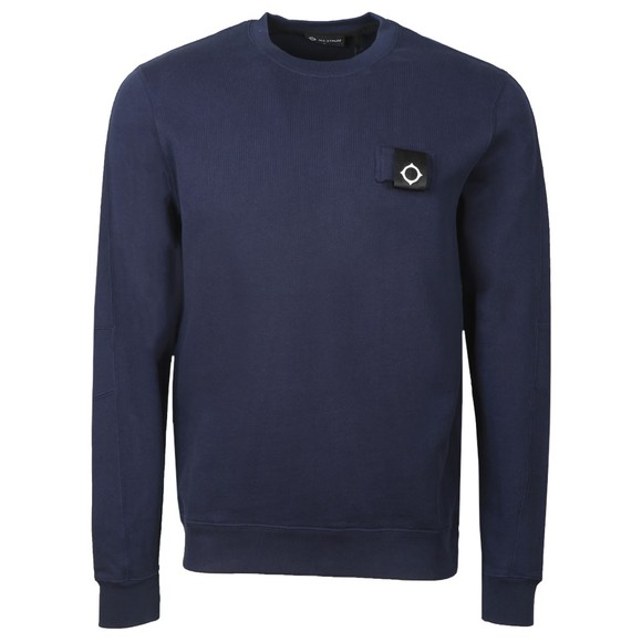 Ma.Strum Mens Blue Training Crew Sweatshirt