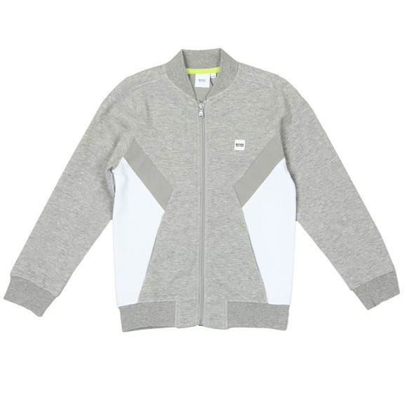 BOSS Boys Grey Side Panel Full Zip Track Top