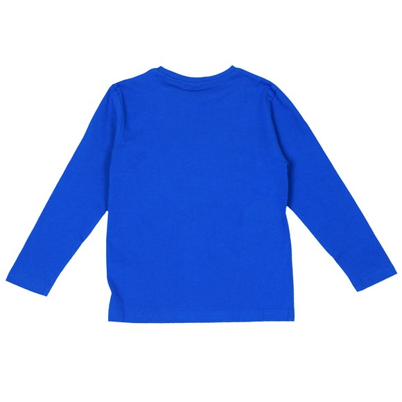BOSS Boys Blue Large Logo Centre Logo T-Shirt main image