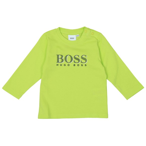BOSS Baby Boys Yellow Large Centre Logo T-Shirt