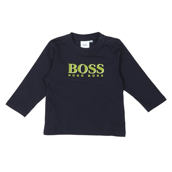 BOSS Baby Boys Blue Large Centre Logo T-Shirt
