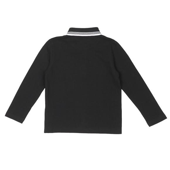 BOSS Boys Black Twin Tipped Long Sleeve Polo Shirt main image