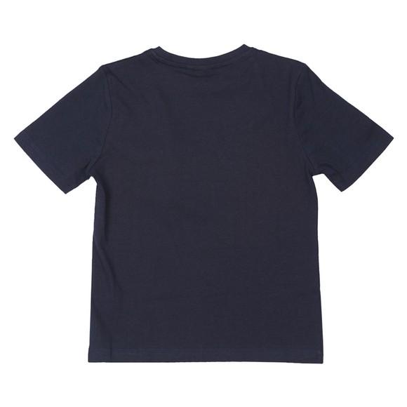BOSS Boys Blue Large Curved Logo T-Shirt main image