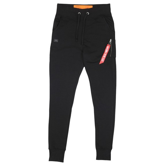 Alpha Industries Mens Black Slim Cargo Pant