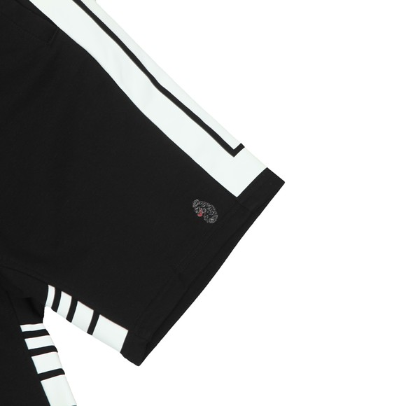 Luke 1977 Mens Black Quiff Richards Striped Detail Short main image