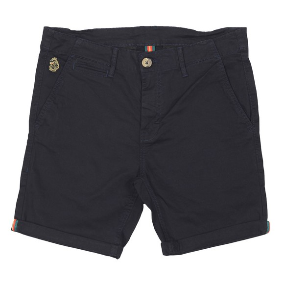Luke Sport Mens Blue Corblimey Tape Detail Chino Short