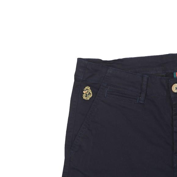 Luke Sport Mens Blue Corblimey Tape Detail Chino Short