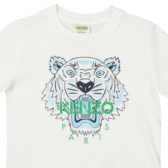 Kenzo Kids Boys White Boys Printed Tiger T-Shirt main image