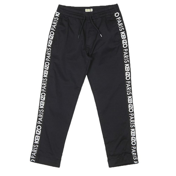 Kenzo Kids Boys Black Tape Logo Trouser