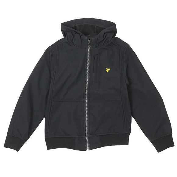 Lyle And Scott Junior Boys Black Soft Shell Jacket