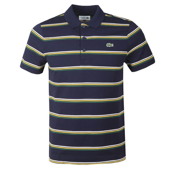 Lacoste Sport Mens Blue YH1492 Striped Polo Shirt