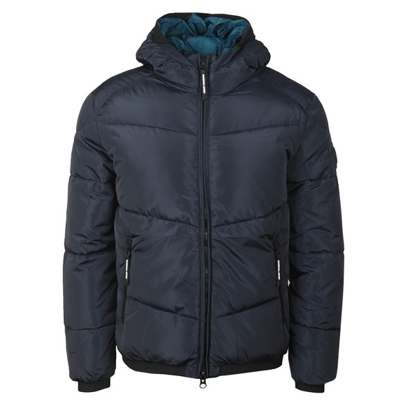 Marshall Artist Mens Blue Paninaro Bubble Jacket