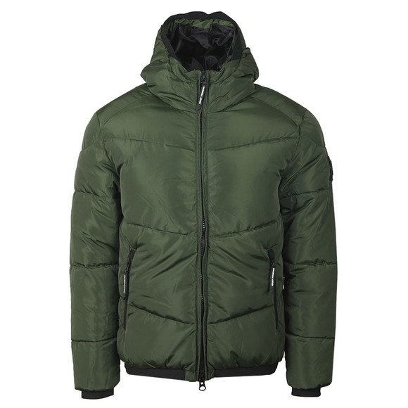 Marshall Artist Mens Green Paninaro Bubble Jacket