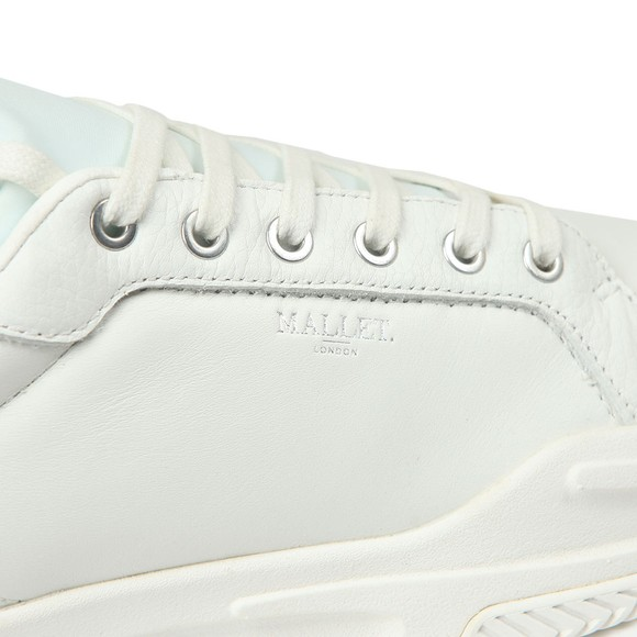 Mallet Mens White Kingsland Trainer