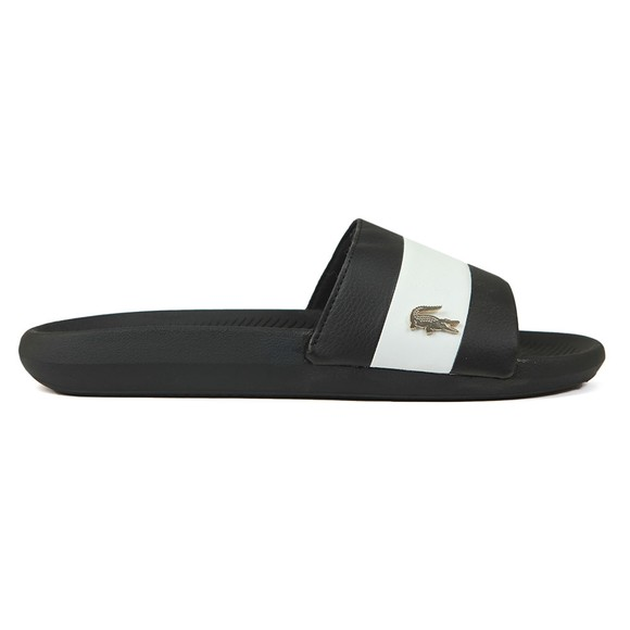 Lacoste Mens Black Croco Slide