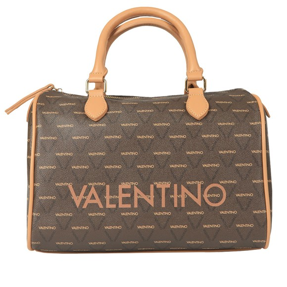 Valentino by Mario Womens Brown Liuto Satchel Handbag