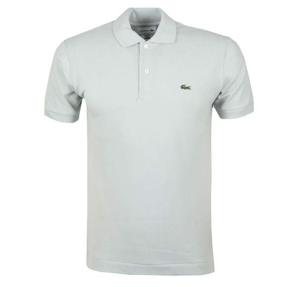 Lacoste Mens Grey L1212 Plain Polo Shirt main image