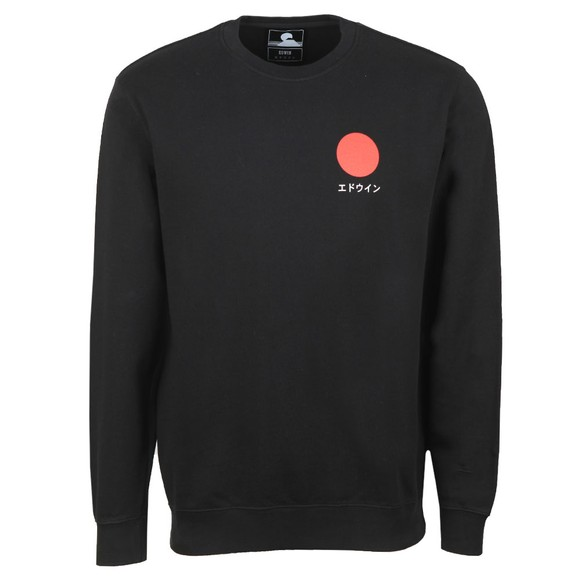 Edwin Mens Black Japanese Sun Sweatshirt