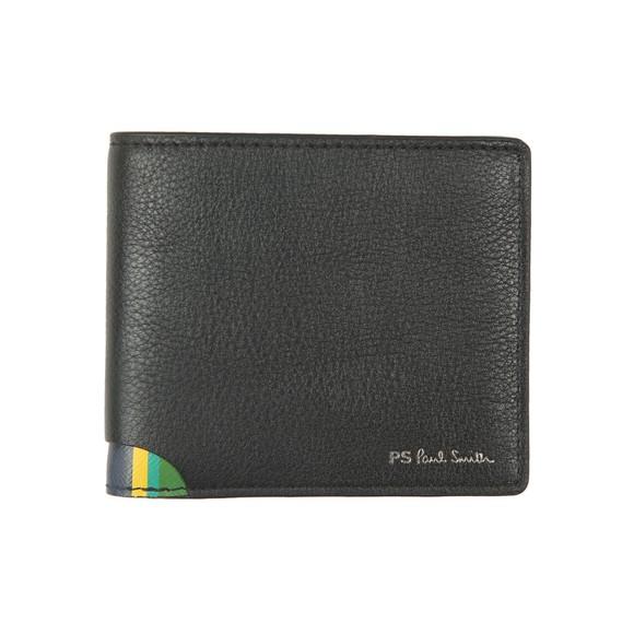 PS Paul Smith Mens Black Corner Stripe Wallet