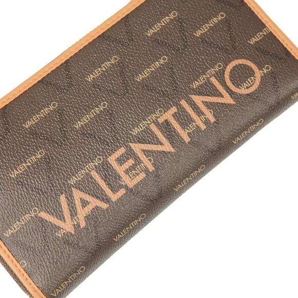 Valentino Bags Womens Brown Liuto Zip Around Wallet