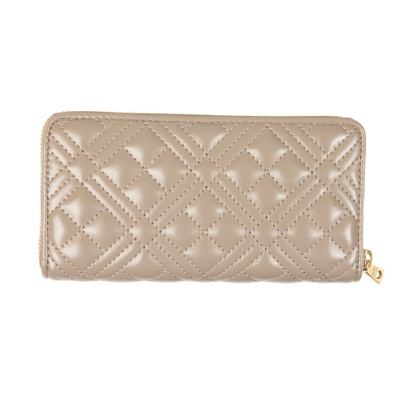 Love Moschino Womens Grey Cross Quilted Plaque Purse main image