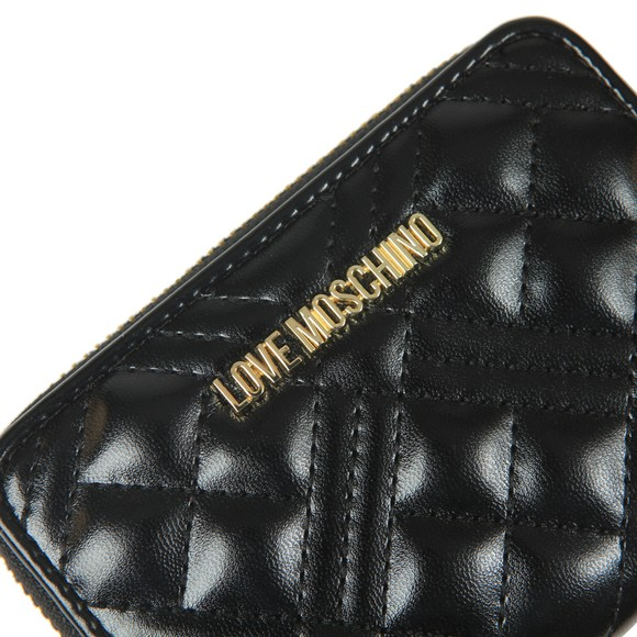 Love Moschino Womens Black Small Cross Quilted Purse