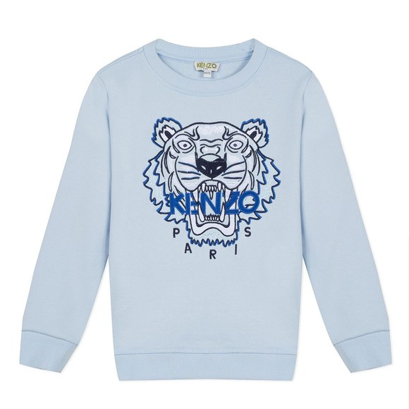 Kenzo Kids Boys Blue Embroidered Tiger Sweatshirt main image