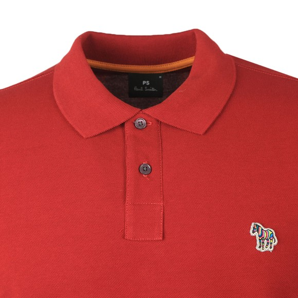 PS Paul Smith Mens Red Zebra Polo Shirt