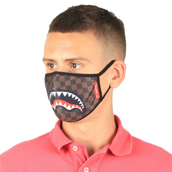 Sprayground Mens Brown Sharks In Paradise Face Mask