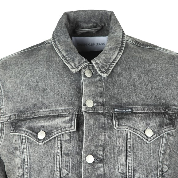 Calvin Klein Jeans Mens Grey Foundation Slim Denim Jacket main image