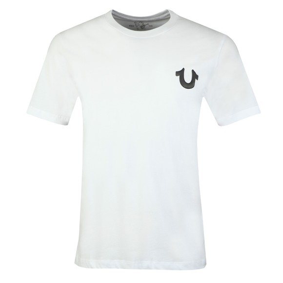 True Religion Mens White Crew Logo T-Shirt