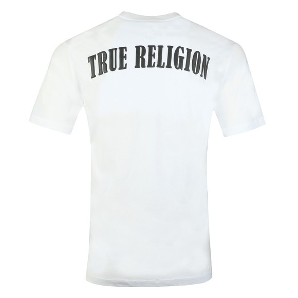 True Religion Mens White Crew Logo T-Shirt main image