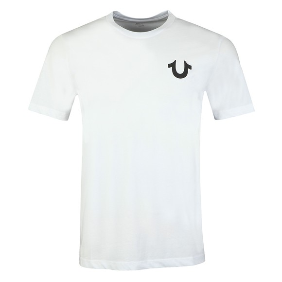 True Religion Mens White Crew Neck T-Shirt