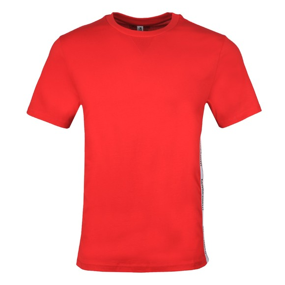 Moschino Mens Red Side Tape T-Shirt