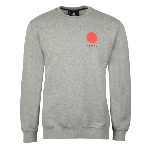 Edwin Mens Grey Japanese Sun Sweatshirt