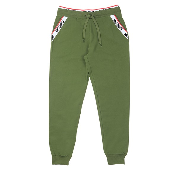 Moschino Mens Green Tape Pocket Jogger