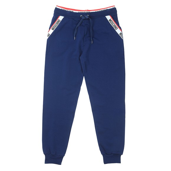 Moschino Mens Blue Tape Pocket Jogger