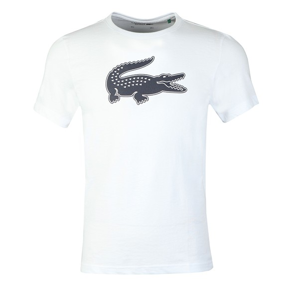 Lacoste Sport Mens White TH2042 3D Print T-Shirt