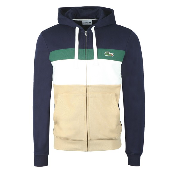 Lacoste Mens Multicoloured SH2176 Colourblock Zip Hoody