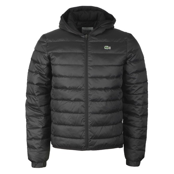 Lacoste Mens Black BH1531 Hooded Quilted Jacket