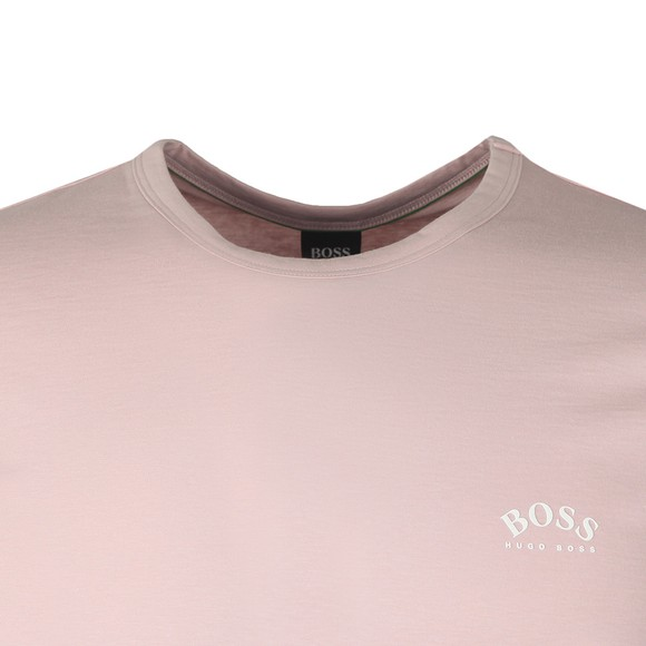 BOSS Mens Pink Athleisure Curved T-Shirt main image