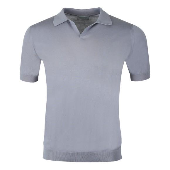 John Smedley Mens Grey Noah Skipper Collar Shirt SS