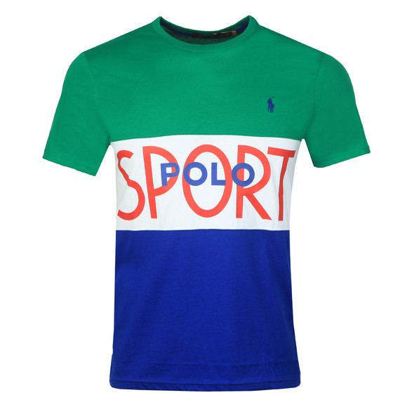 Polo Ralph Lauren Mens Green Tennis Polo Sport Panel T-Shirt