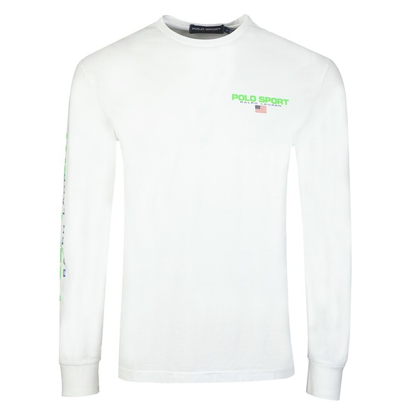 Polo Ralph Lauren Mens White Detailed Arm Logo Long Sleeve T-Shirt