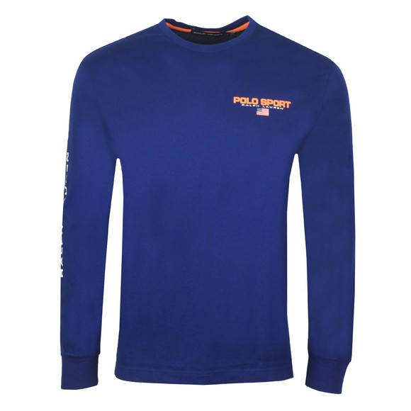 Polo Ralph Lauren Mens Blue Detailed Arm Logo Long Sleeve T-Shirt