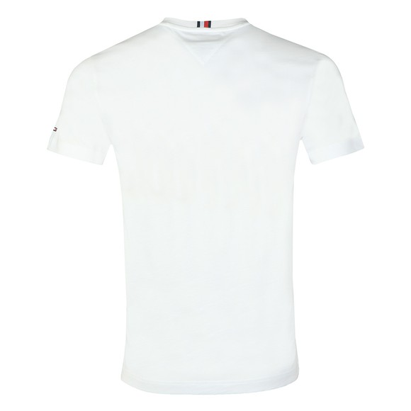 Tommy Hilfiger Mens White Cool Large Signature T-Shirt main image